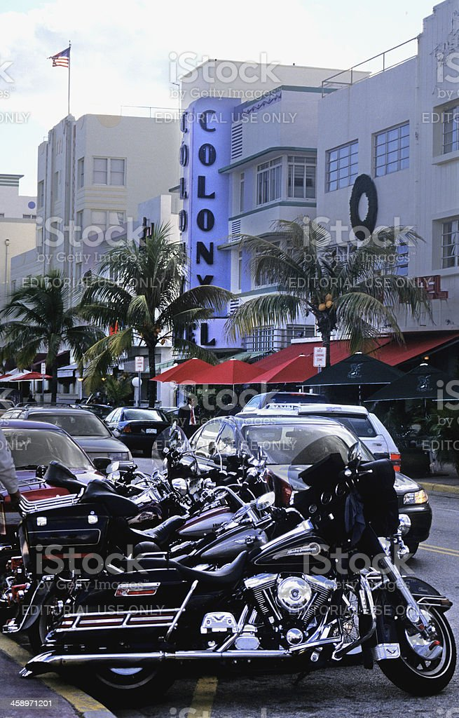 Harley in Miami royalty-free stock photo