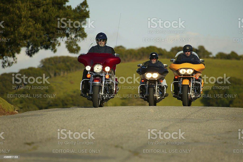 Harley riders out for a cruise royalty-free stock photo