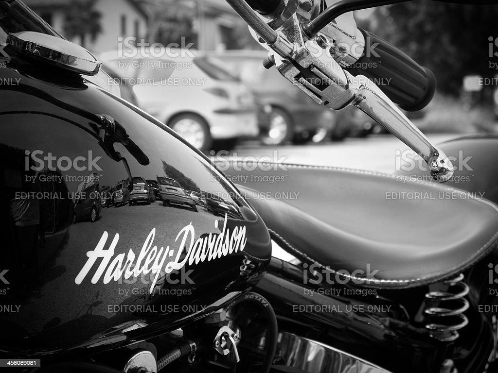 Harley sign stock photo