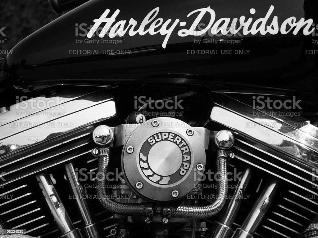 Harley signs stock photo