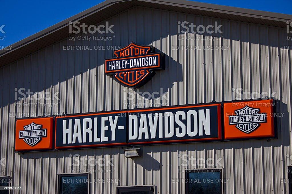 Kokomo, IN - February 2016: Harley-Davidson Motorcycle Dealership stock photo
