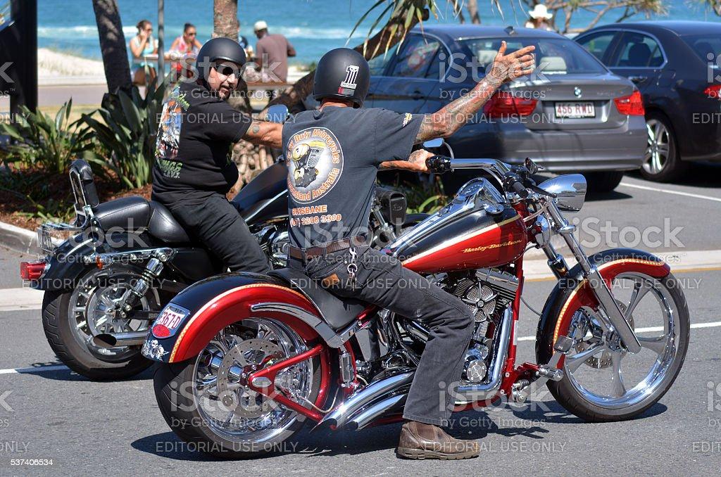Harley-Davidson motorcycle stock photo
