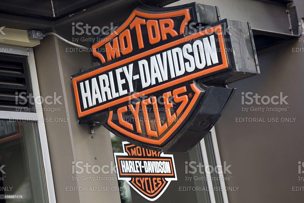 Harley Davidson Motorcycle Store Seattle Royalty Free Stock Photo