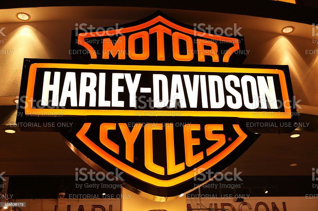 Harley-Davidson sign stock photo