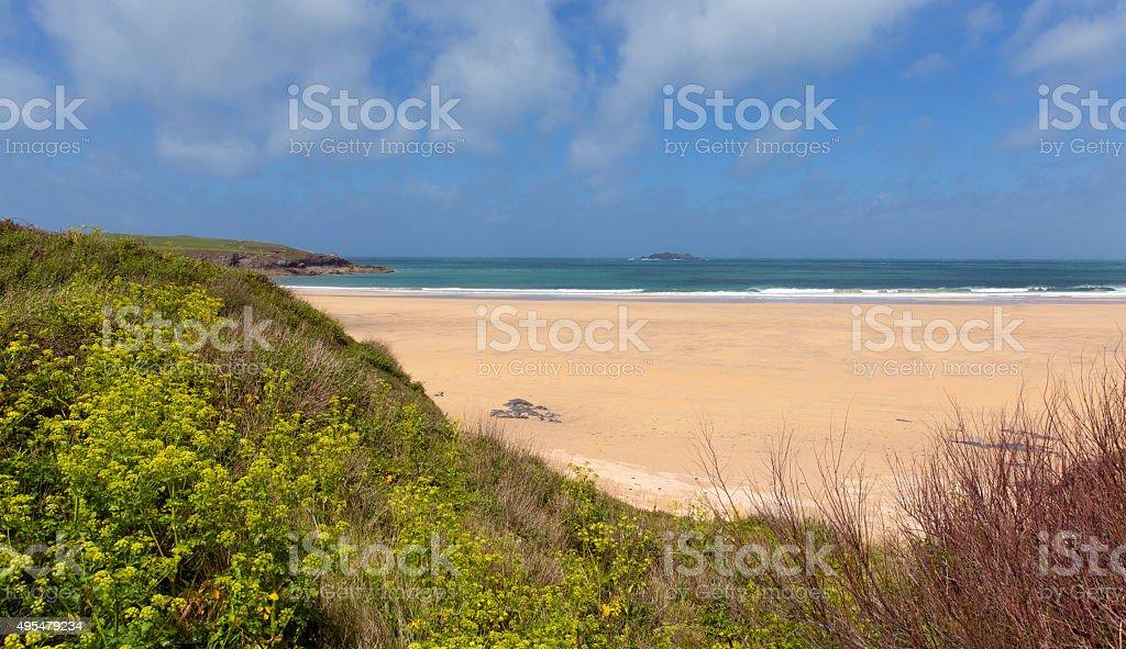 Harlyn Bay North Cornwall England UK near Padstow and Newquay stock photo