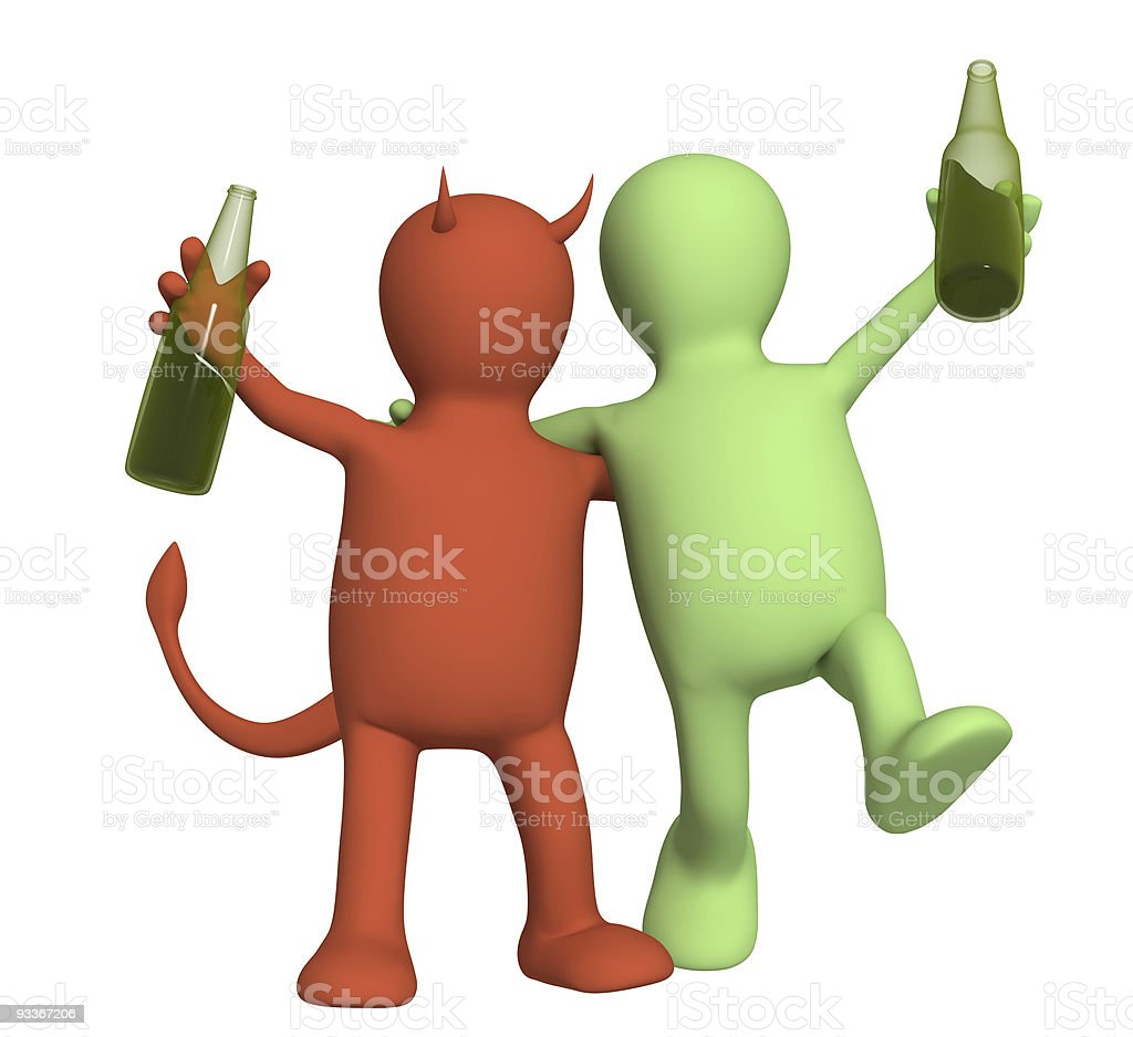 Harm from alcoholism royalty-free stock photo