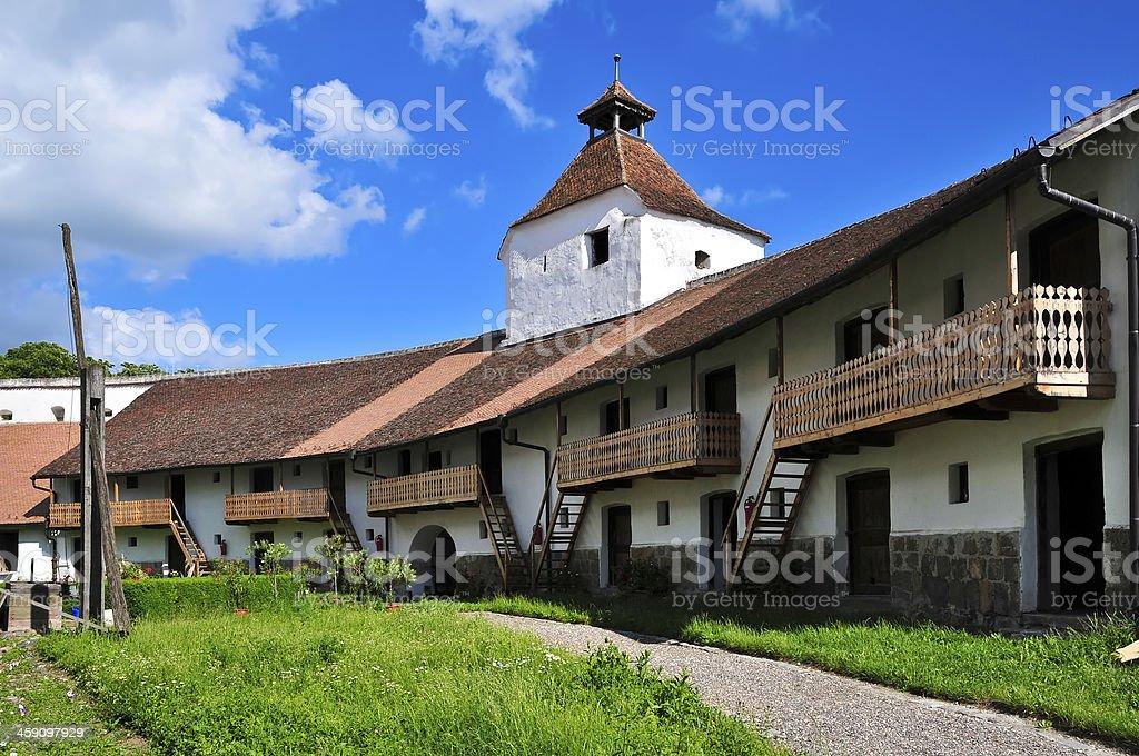 harman fortified church stock photo