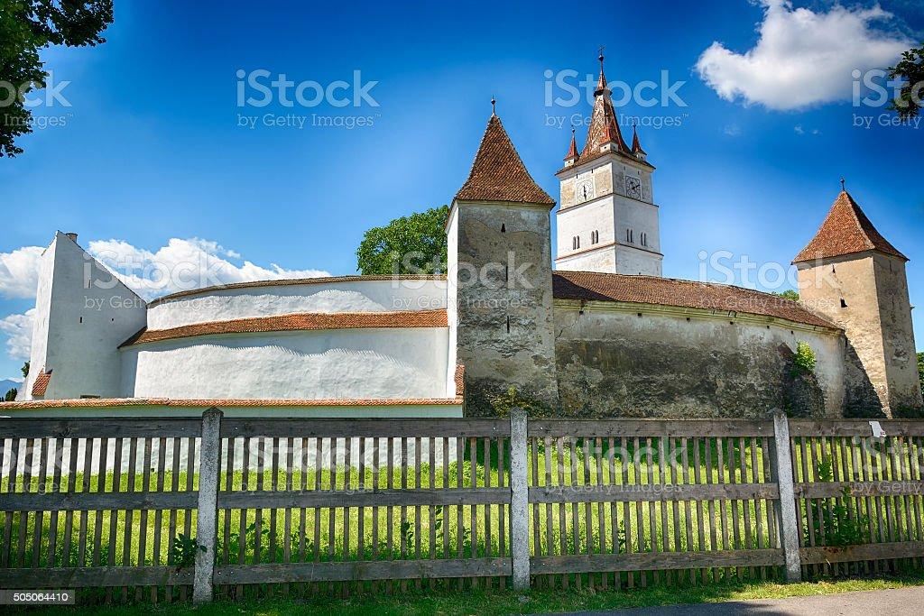 Harman, the Fortified Church stock photo