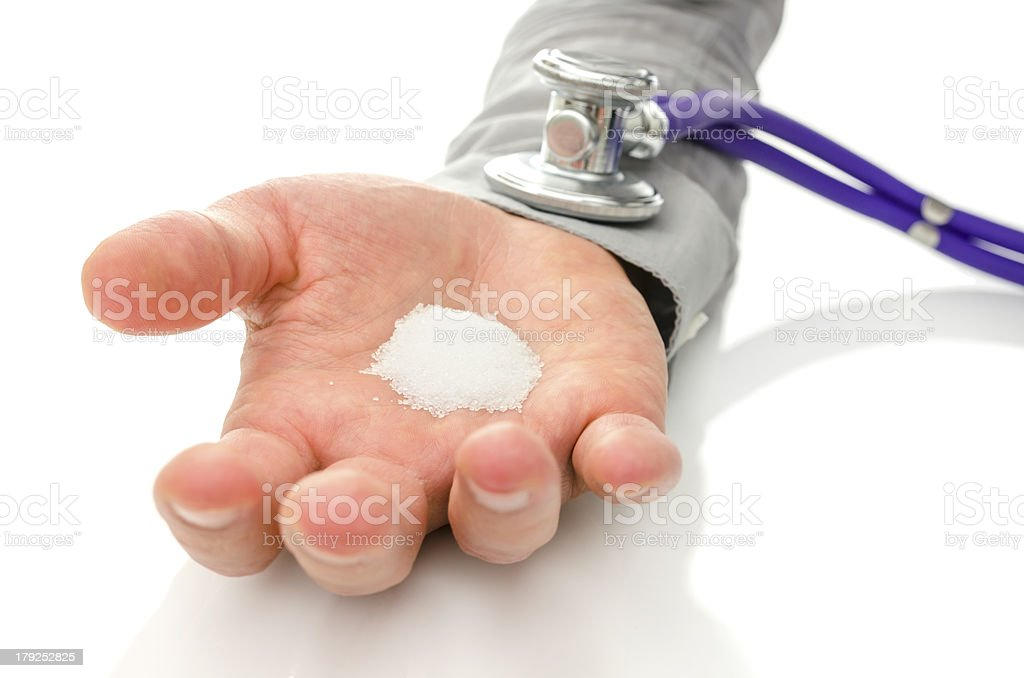 Harmful sugar addiction royalty-free stock photo