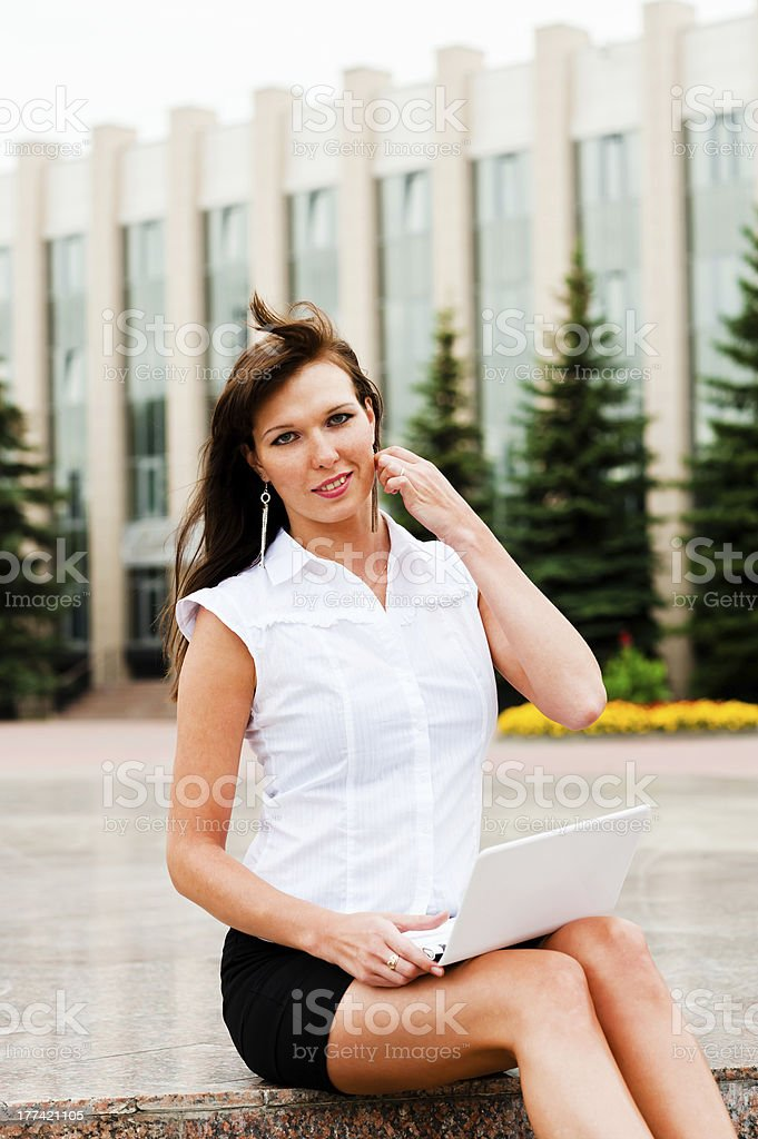 ?harming business woman royalty-free stock photo