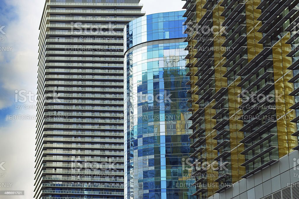 Harmon Hotel, Veer towers and Mandarin Oriental stock photo