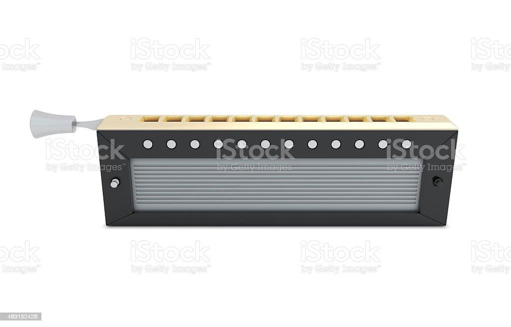 Harmonica isolated on white stock photo