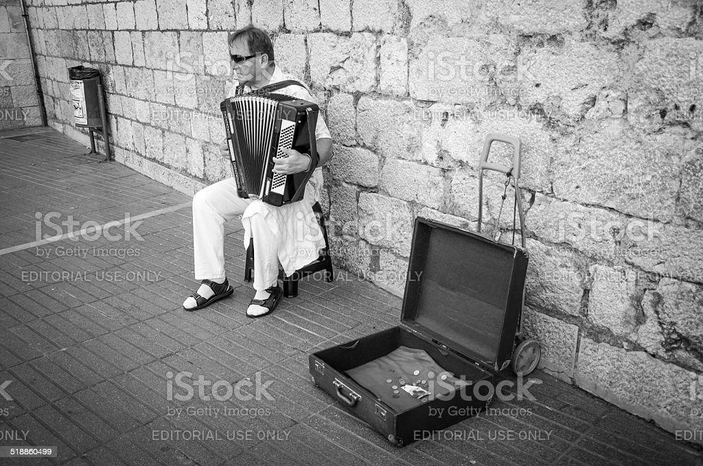 Harmonics player stock photo