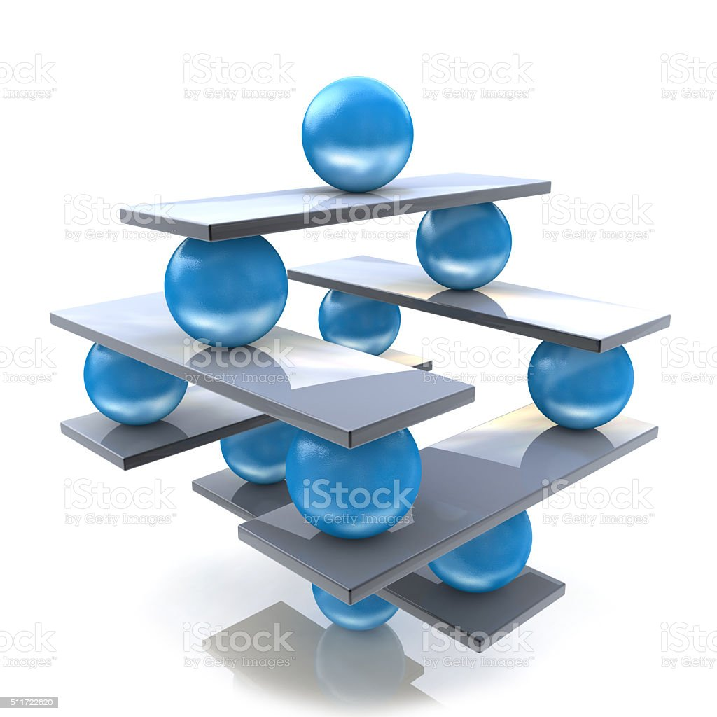 Harmony and balance. Conceptual image of perfect balance stock photo