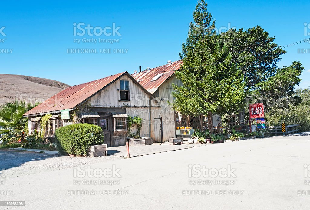 Harmony California Glass Blower Shop and Sales location stock photo