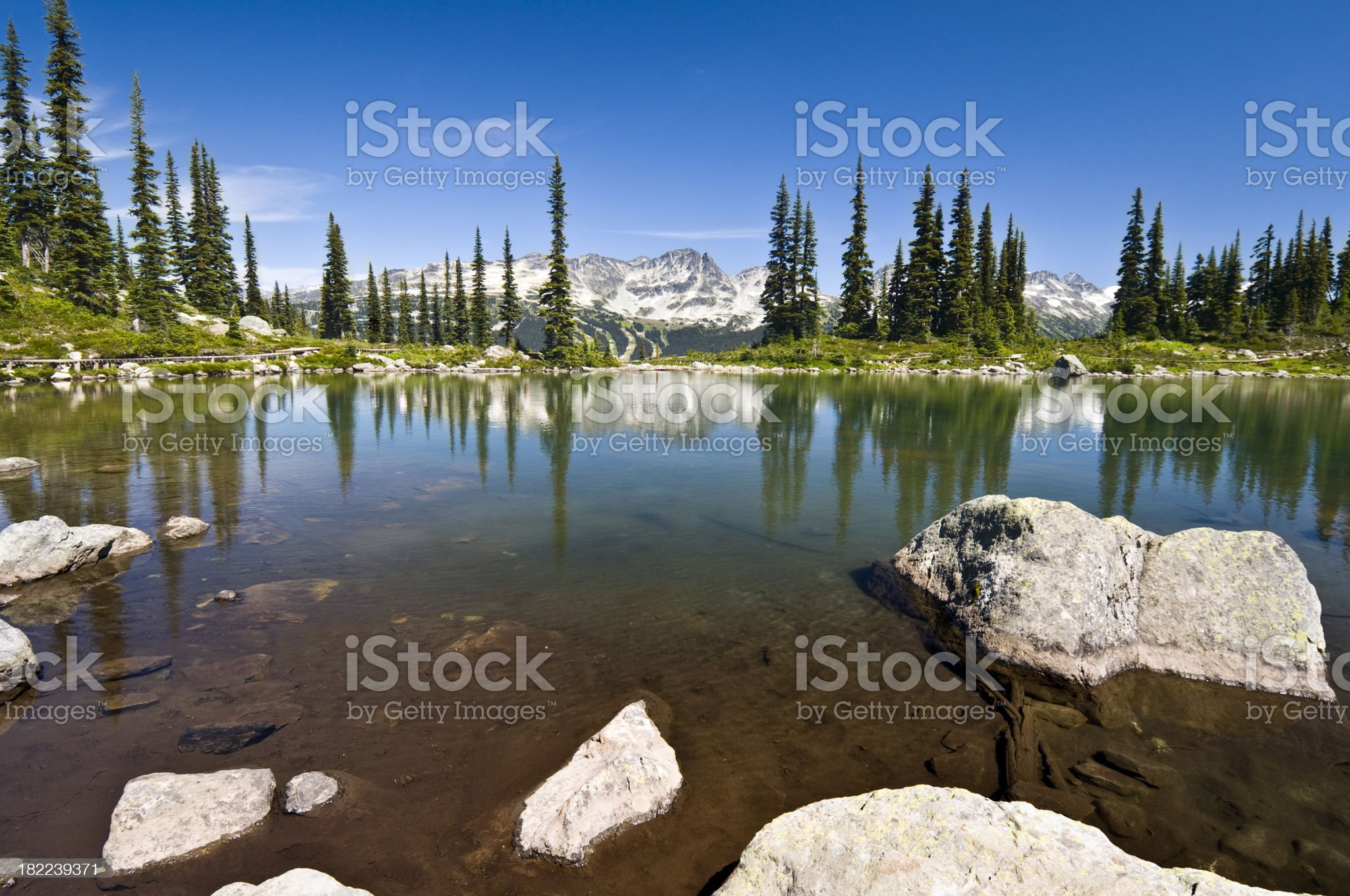 Harmony Lake, Whistler royalty-free stock photo