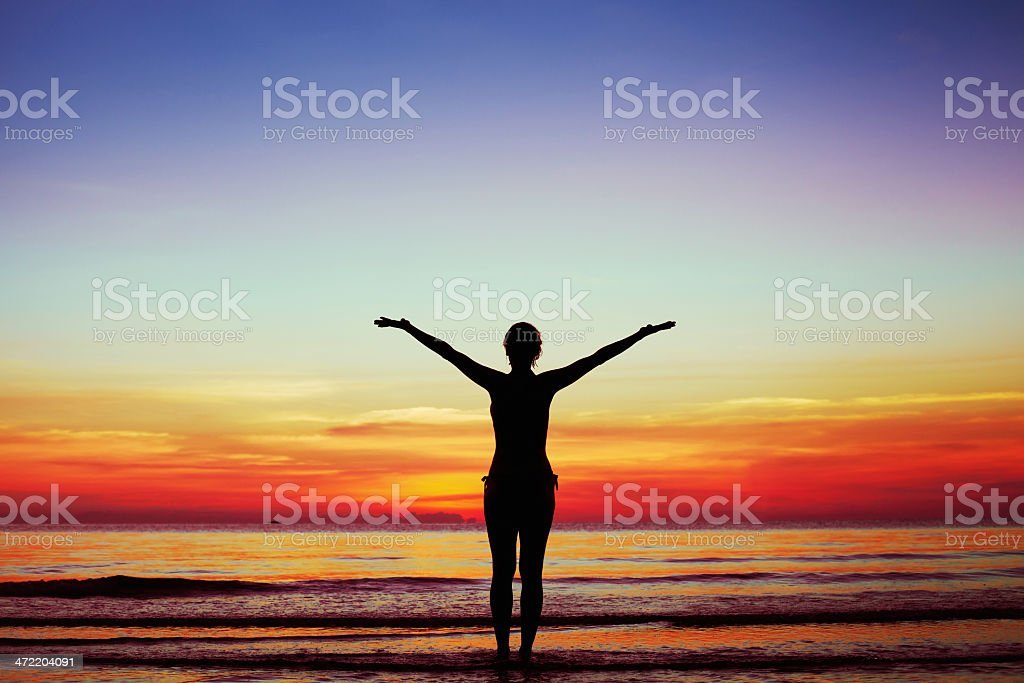 harmony of body and soul stock photo