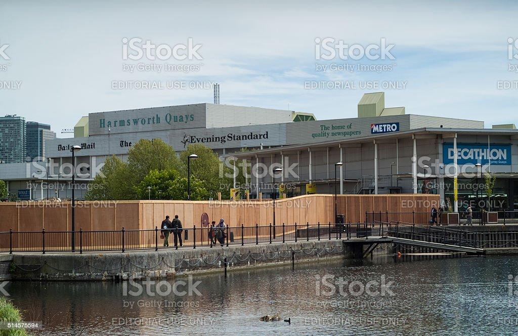 Harmsworth Quays stock photo