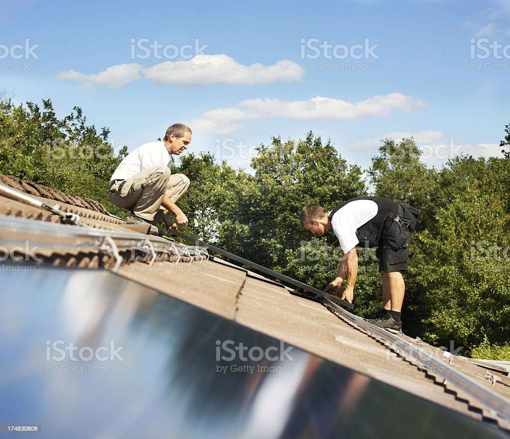 Harnassing the sun's power royalty-free stock photo