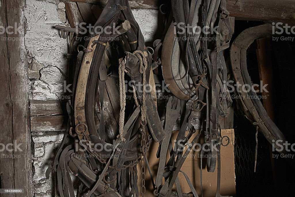 Harness in old german farmhouse stock photo