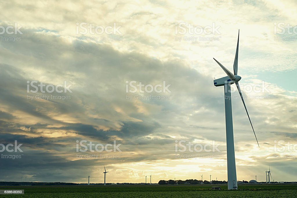Harnessing the power of the wind stock photo