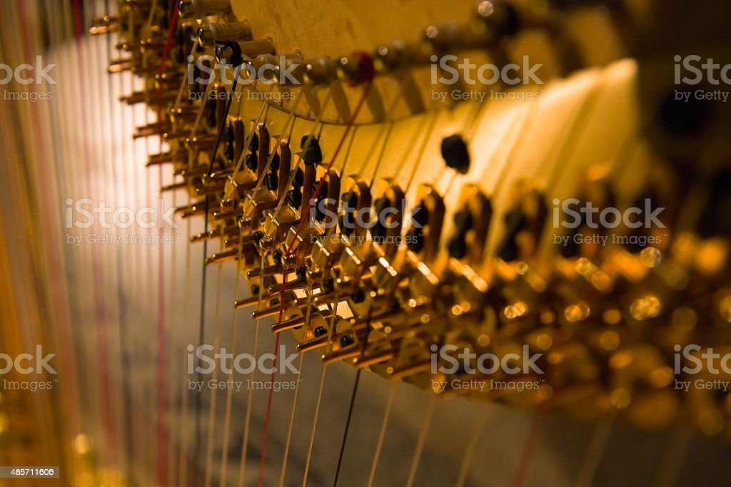 Harp detail stock photo