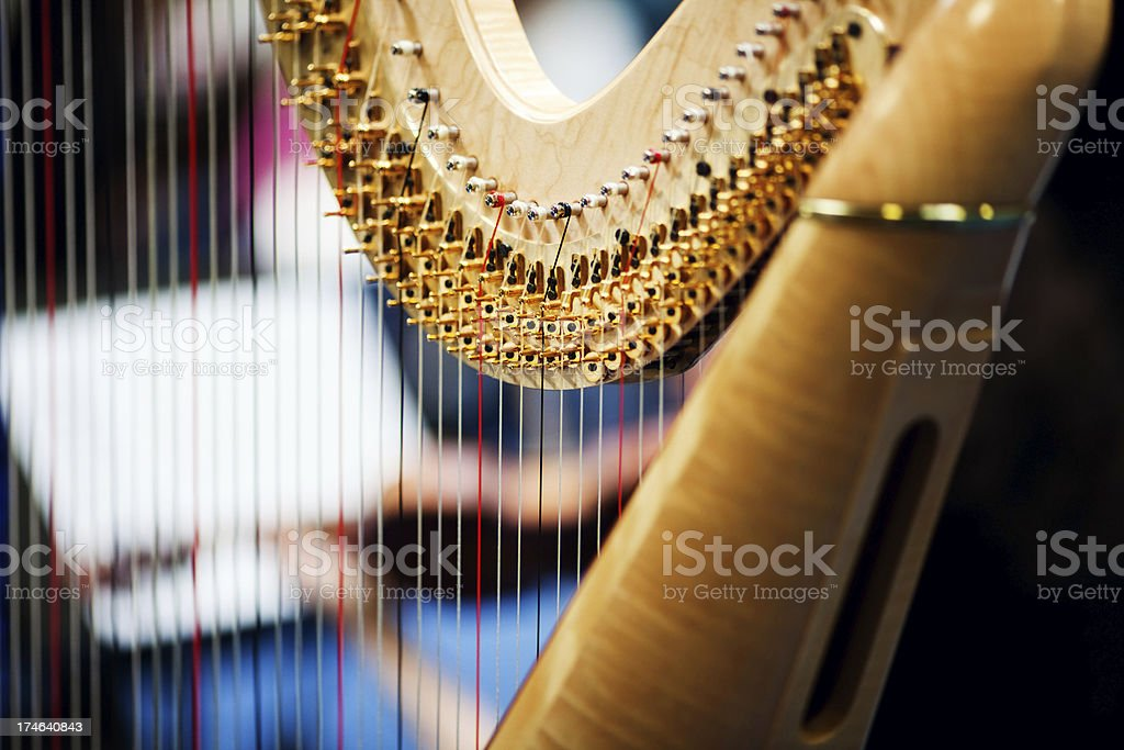Harp In Orchestra stock photo