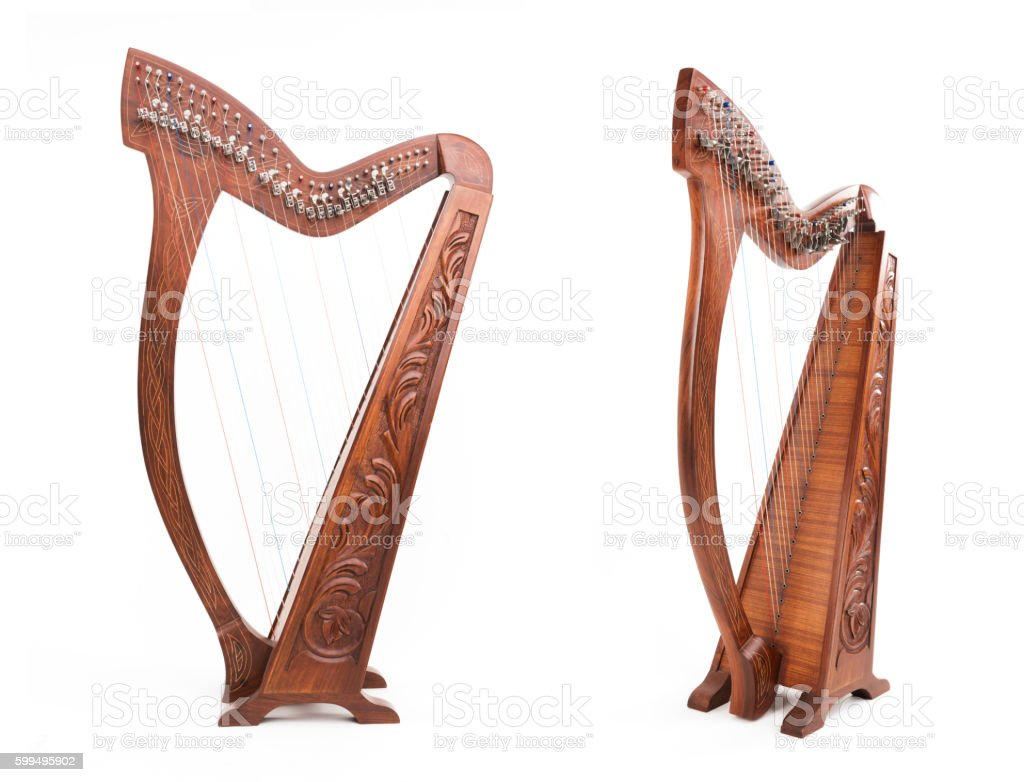Harp Musical Instrument stock photo