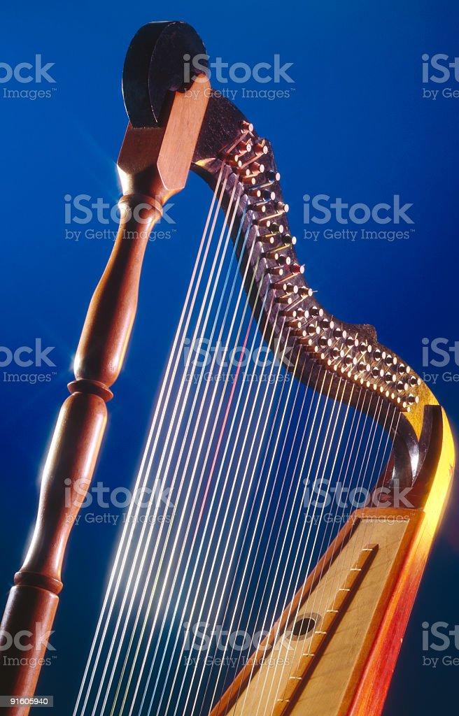Harp royalty-free stock photo