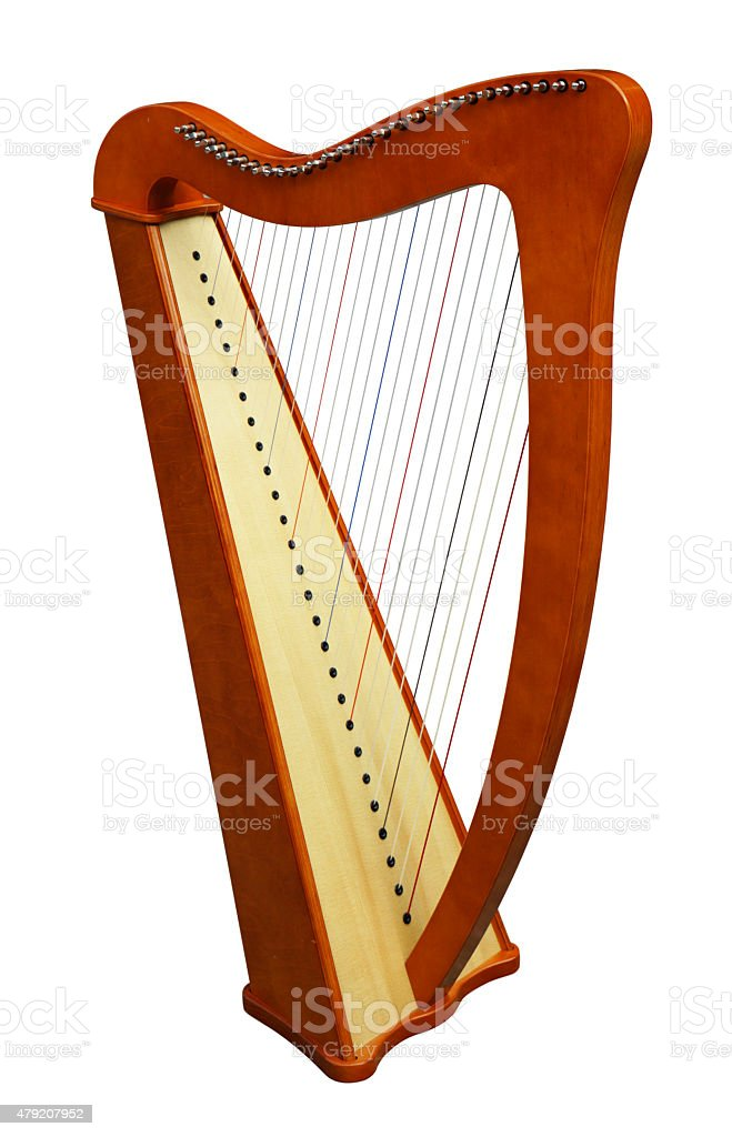 Harp Stringed Musical Instrument stock photo