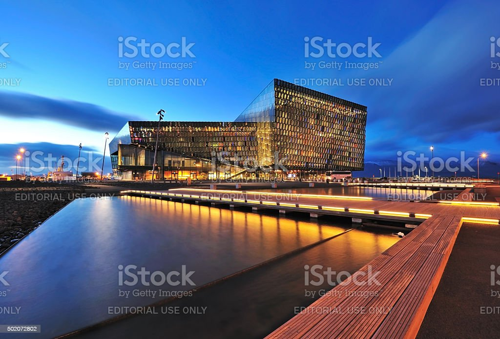 Harpa Concert Hall in Reykjavik stock photo