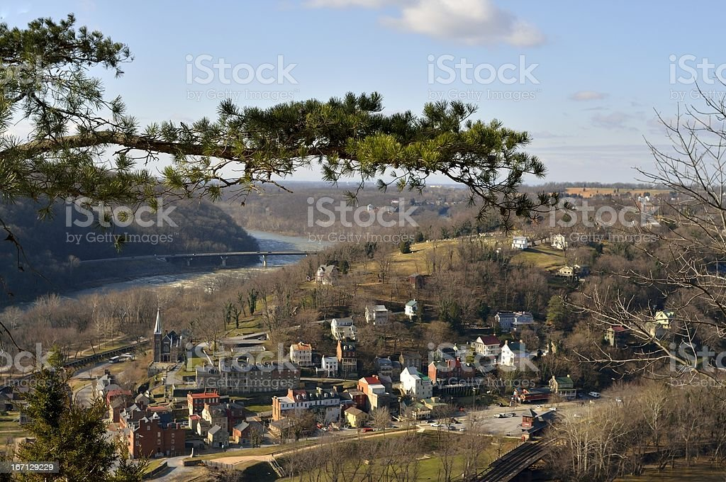 Harpers Ferry From Maryland Heights stock photo