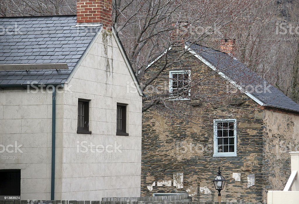 harpers ferry houses stock photo
