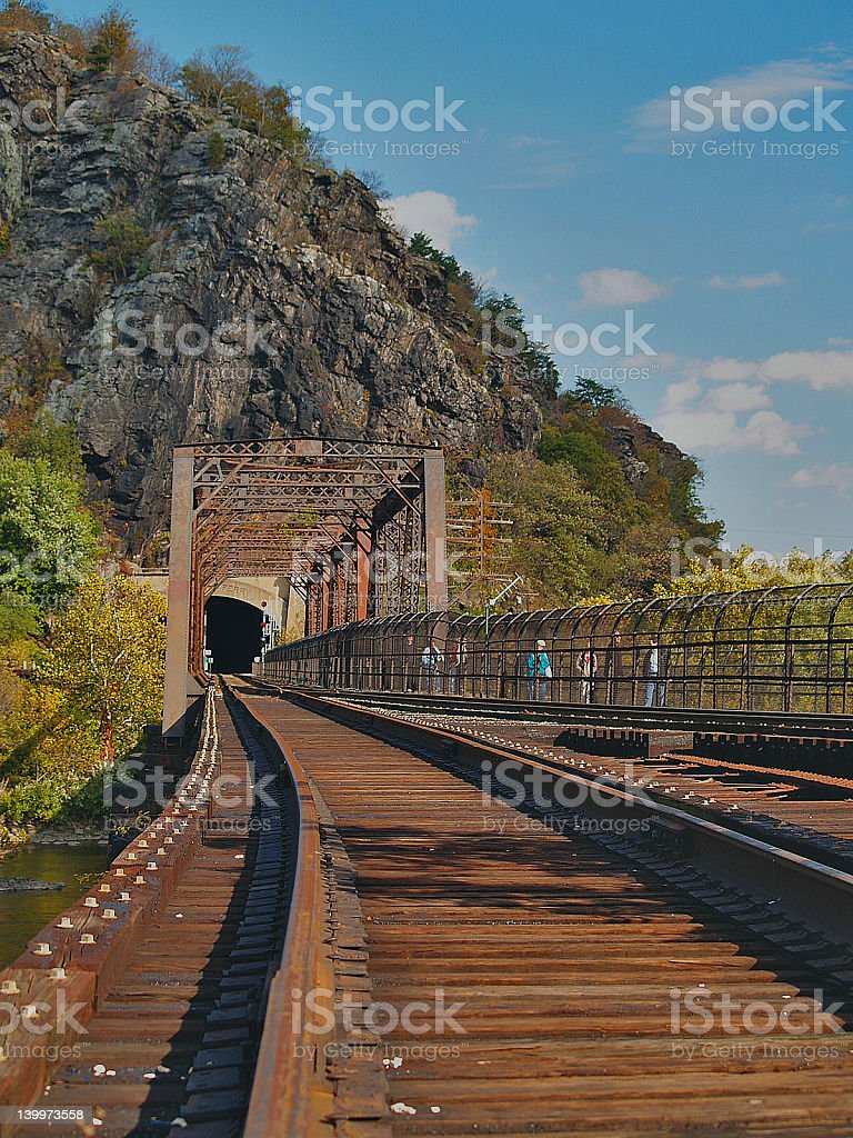 Harpers Ferry Train Tunnel stock photo