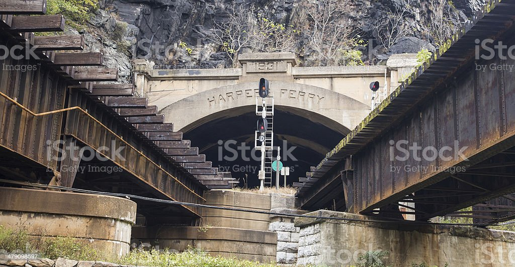 Harpers Ferry, West Virginia stock photo
