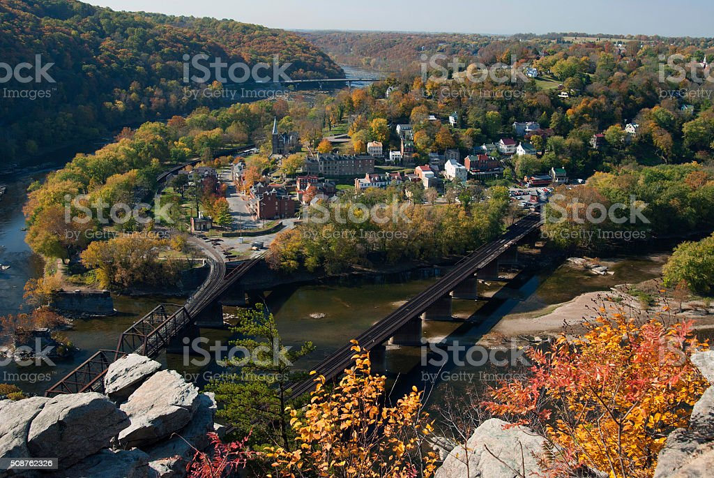 Harpers Ferry, WV in the Fall stock photo