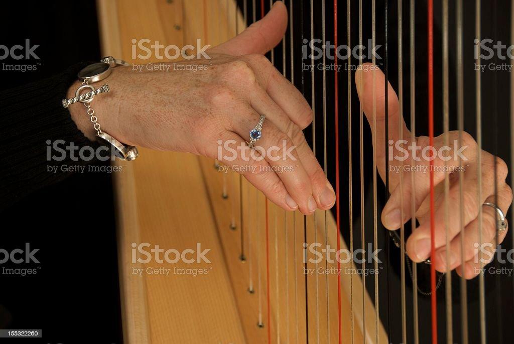 harpists hands stock photo