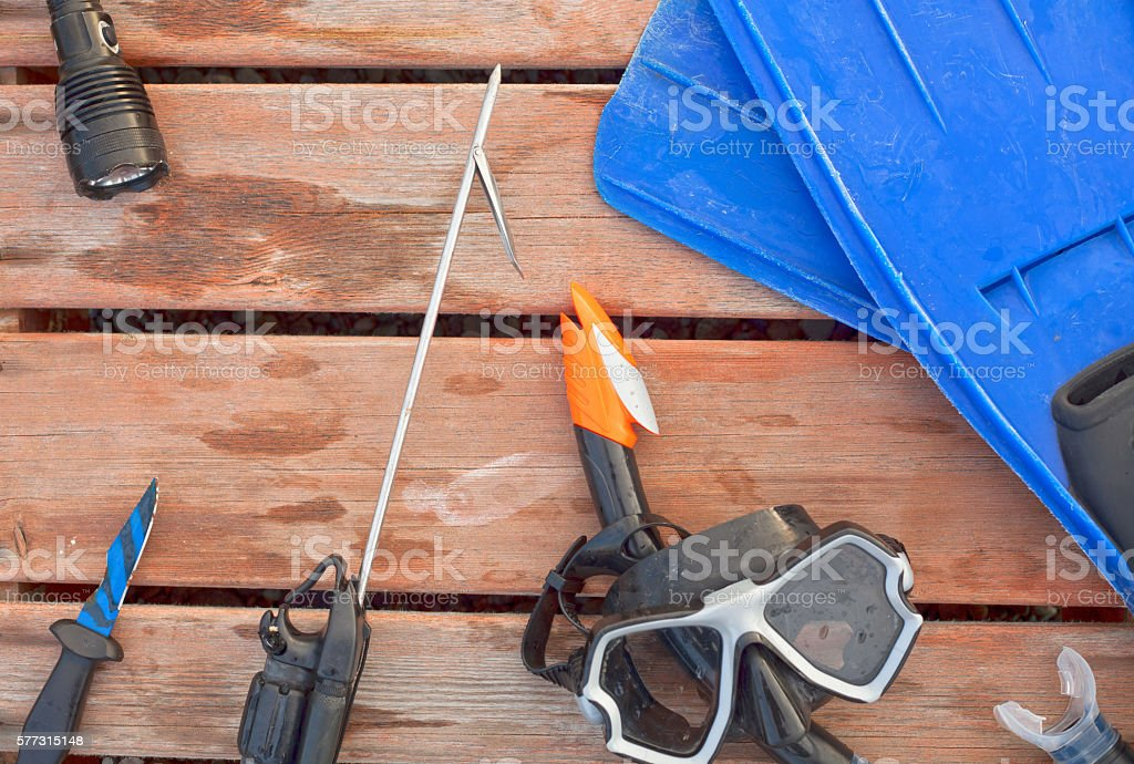 harpoon hunter stock photo