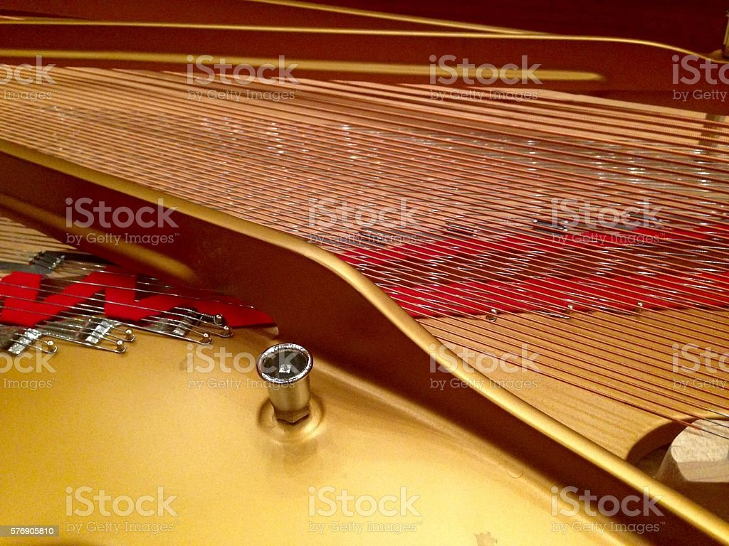 Harpsichord, detail. stock photo