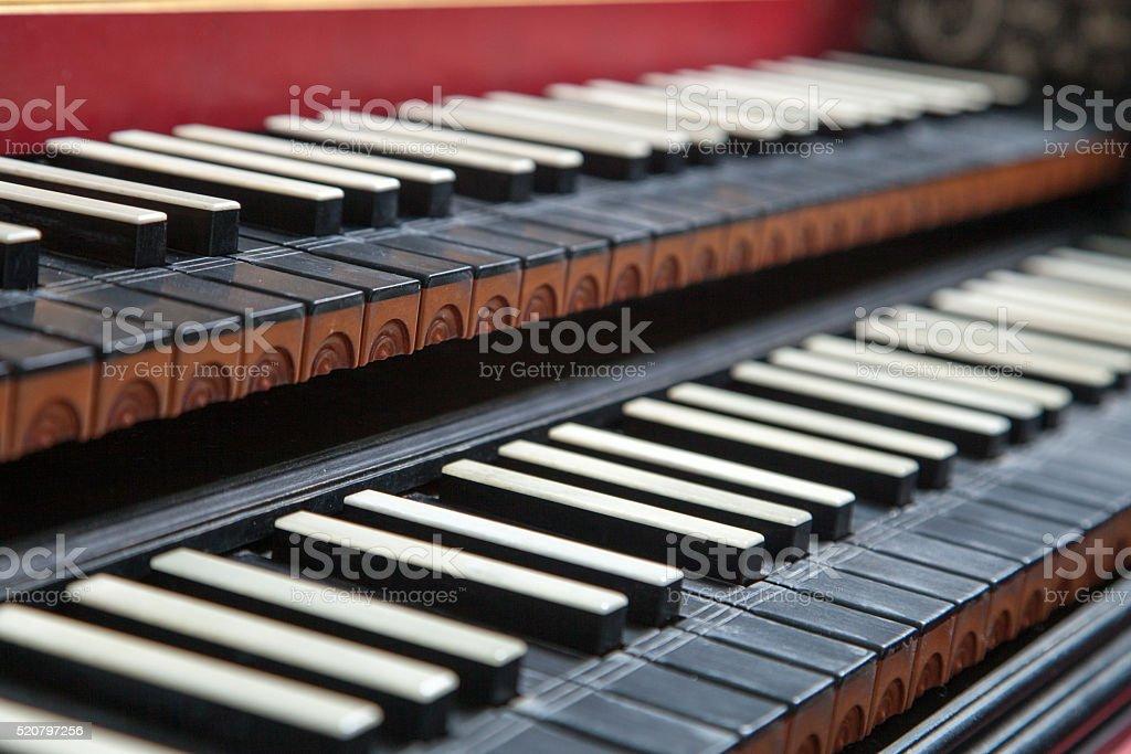 Harpsichord instrument stock photo