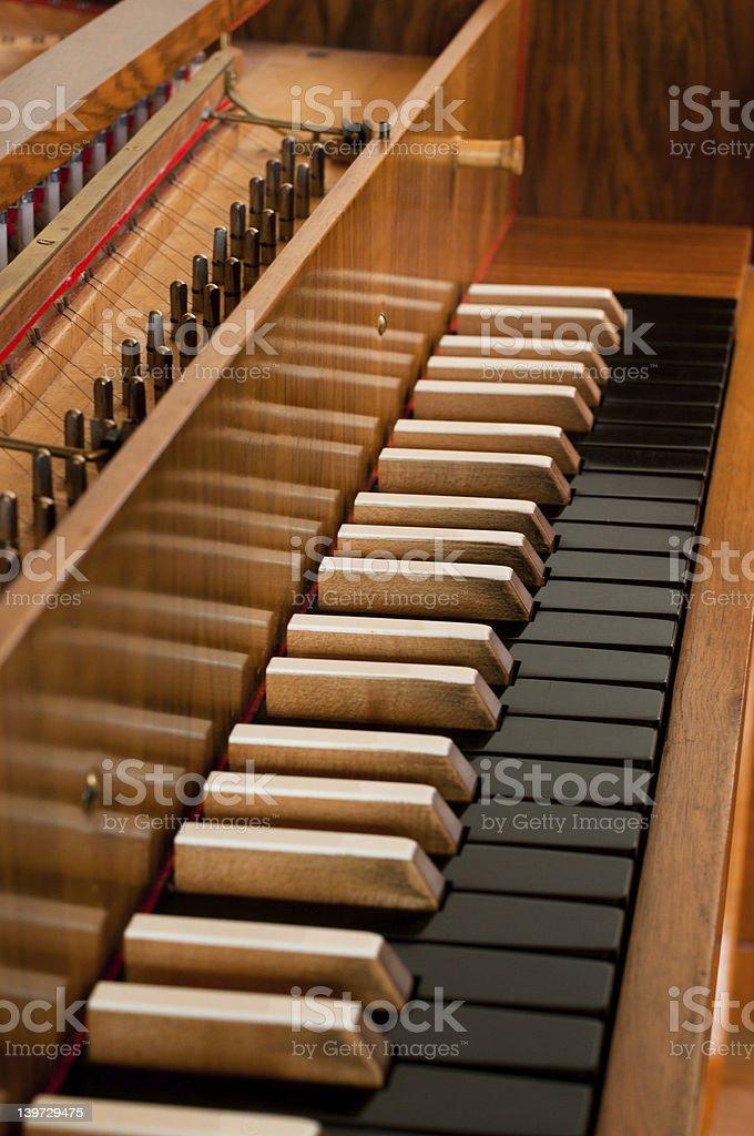 Harpsichord Keyboard stock photo