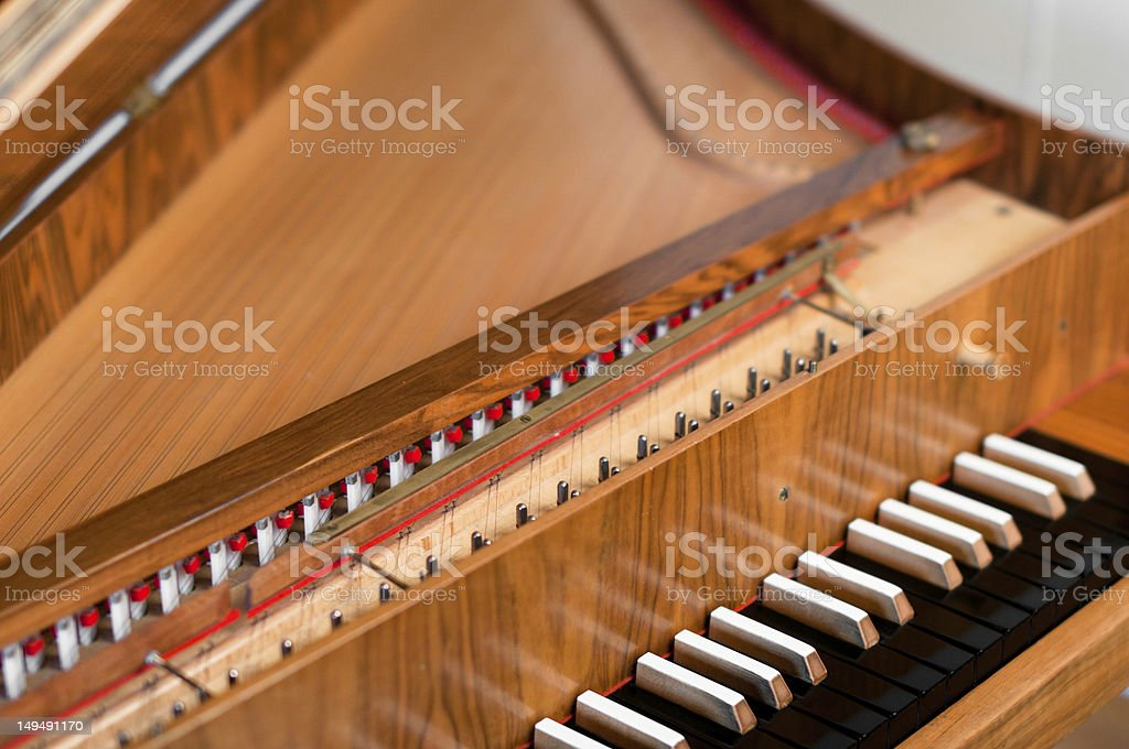 Harpsichord Keyboard royalty-free stock photo