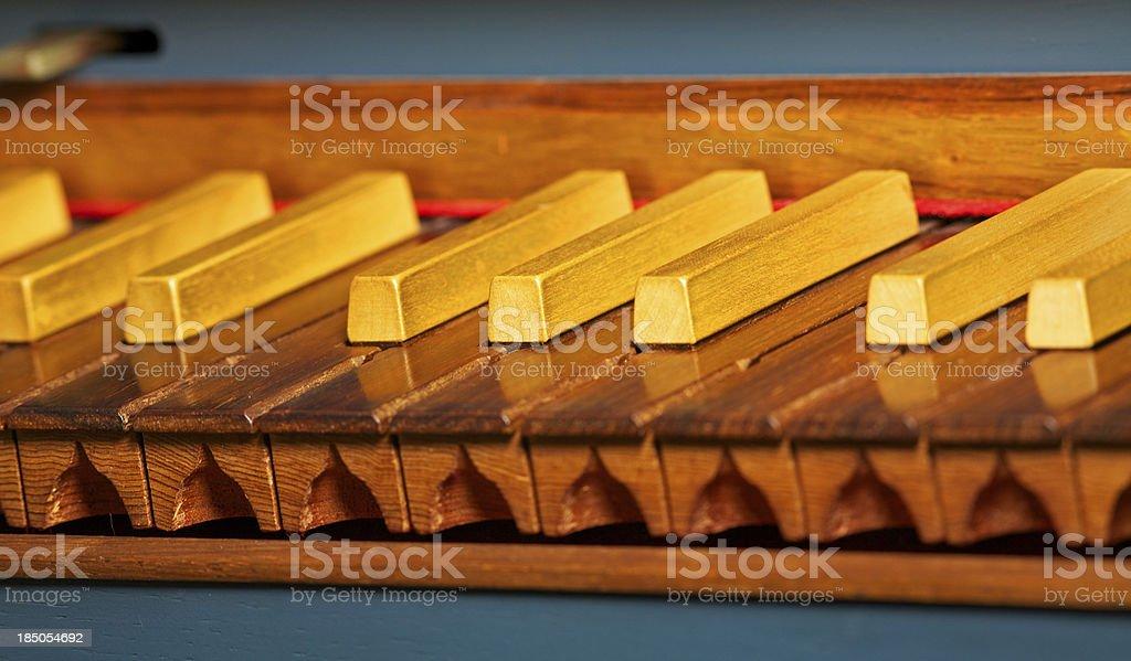 Harpsichord keyboard royalty-free stock photo
