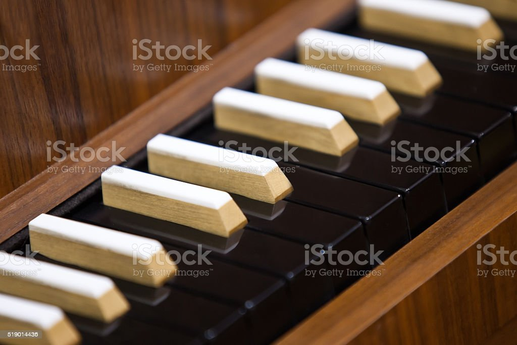 Harpsichord Keyboard stock photo
