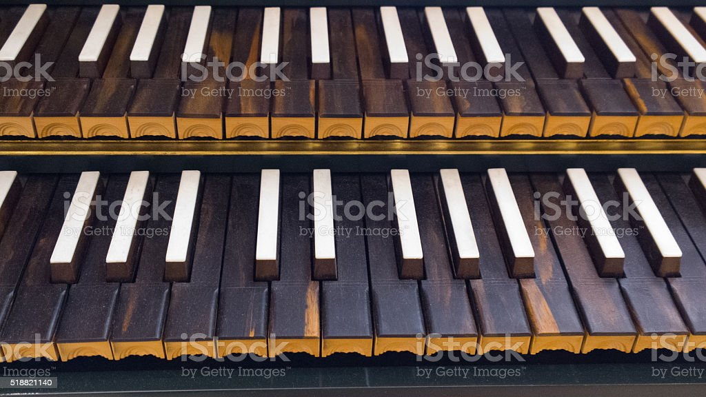 Harpsichord Keys stock photo