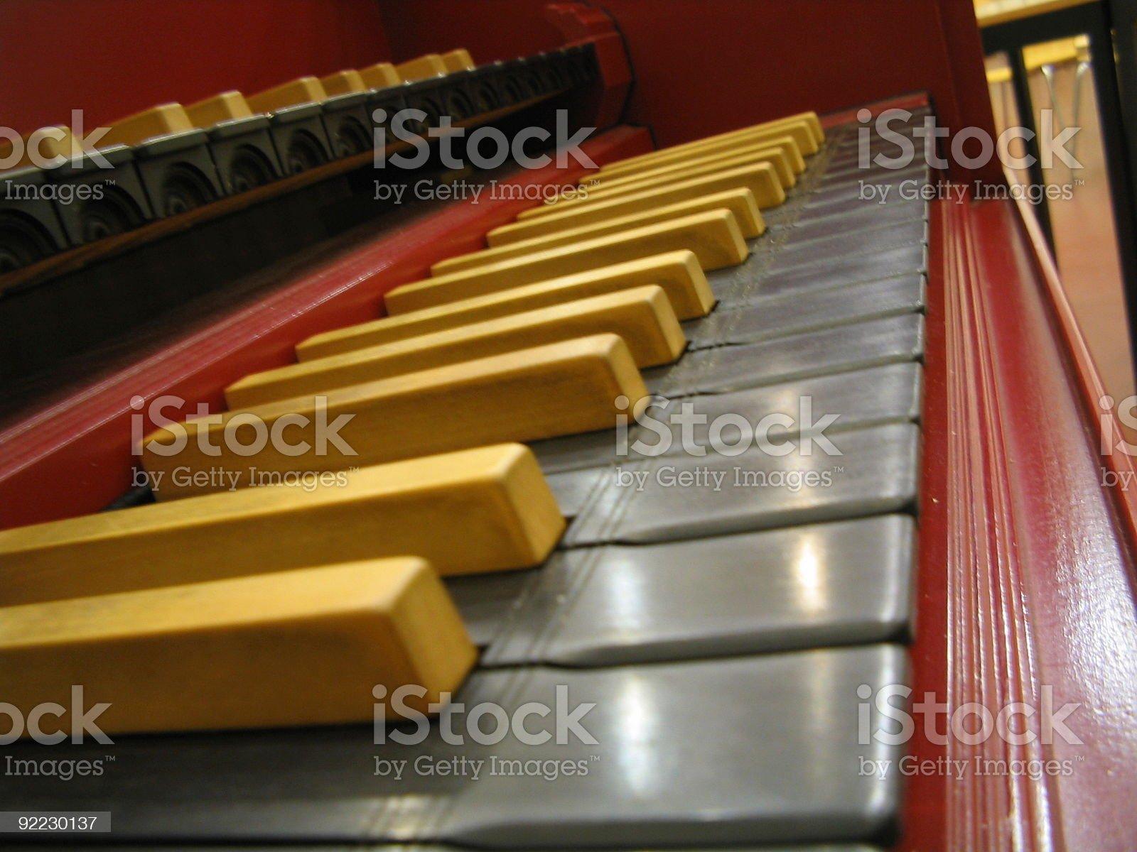 Harpsichord keys royalty-free stock photo