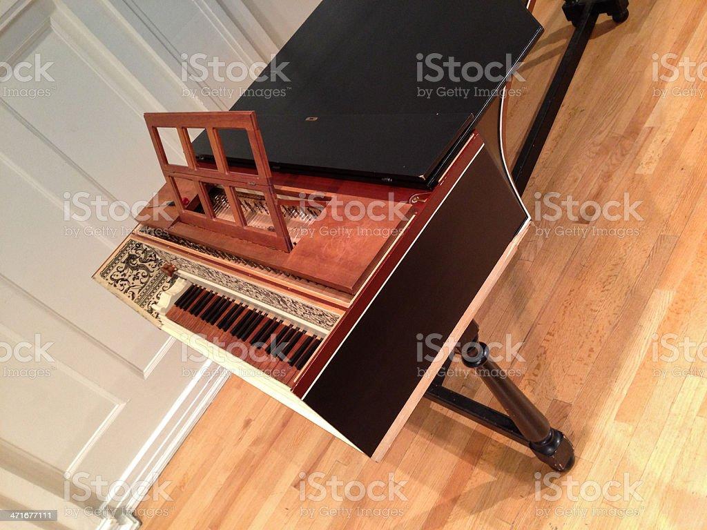 Harpsichord royalty-free stock photo