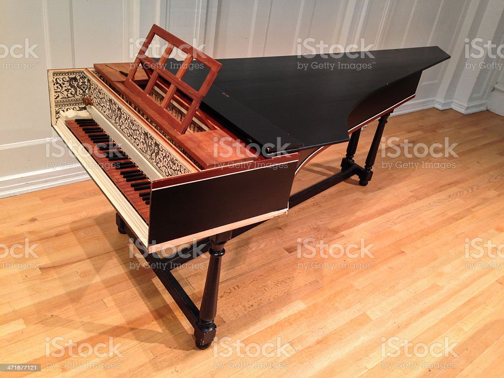 Harpsichord stock photo