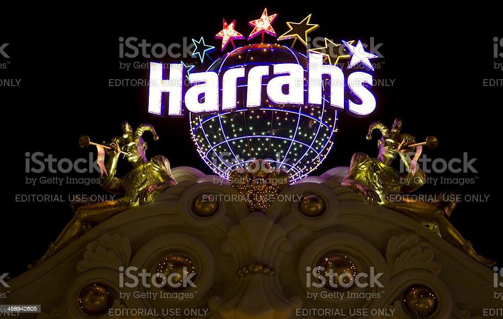 Harrah's Hotel and Casino Nighttime stock photo