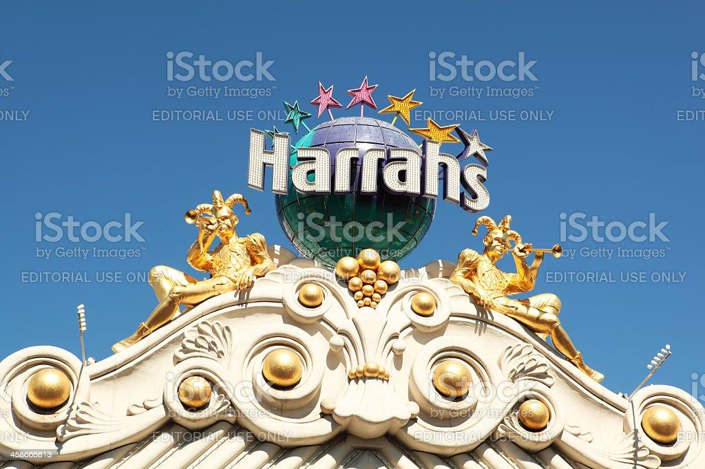 Harrah's hotel casino sign stock photo